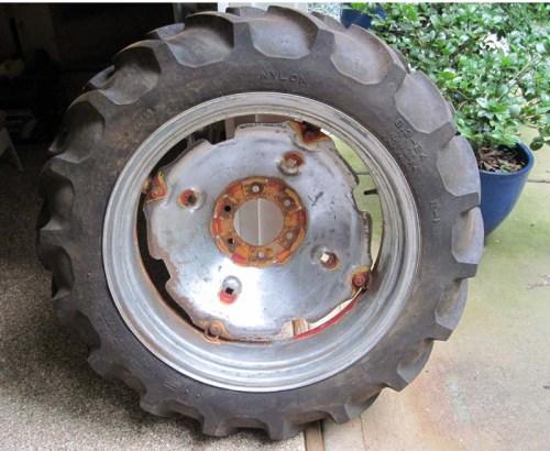 back wheel after sanding