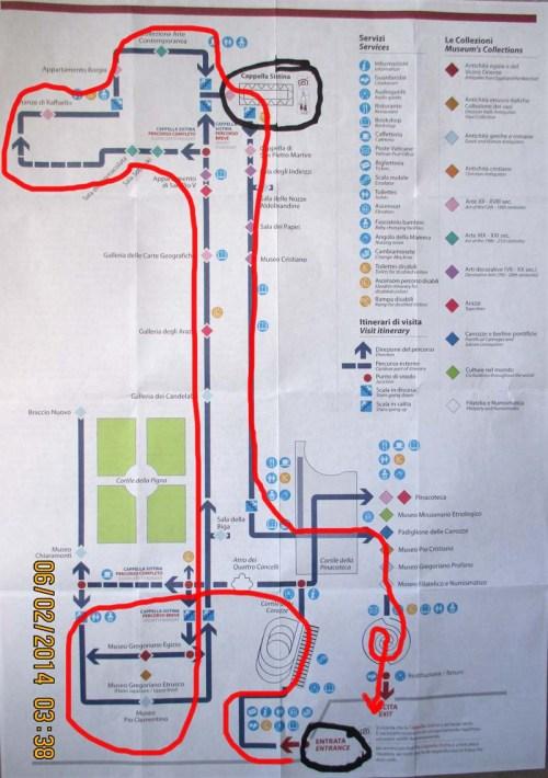 Vatican Museum Map